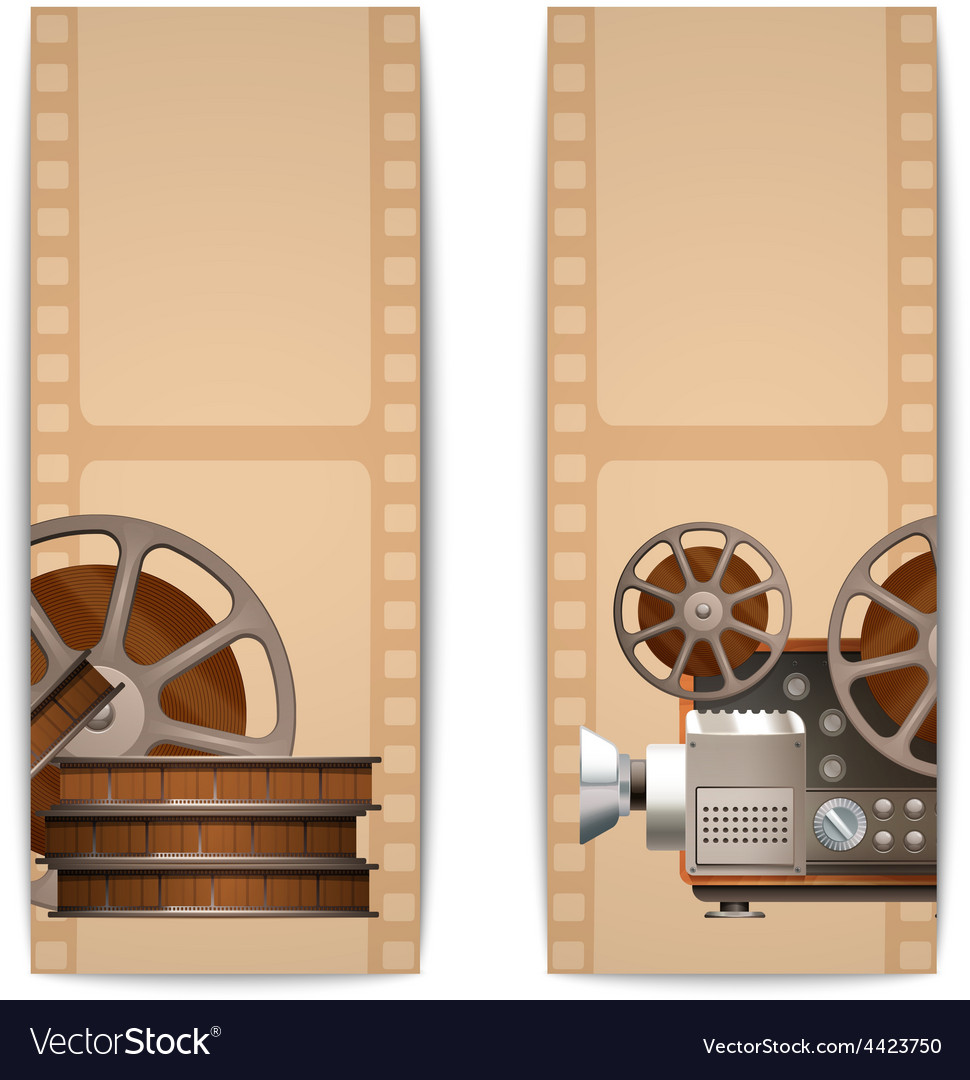 Cinema banners vertical vector | Price: 1 Credit (USD $1)