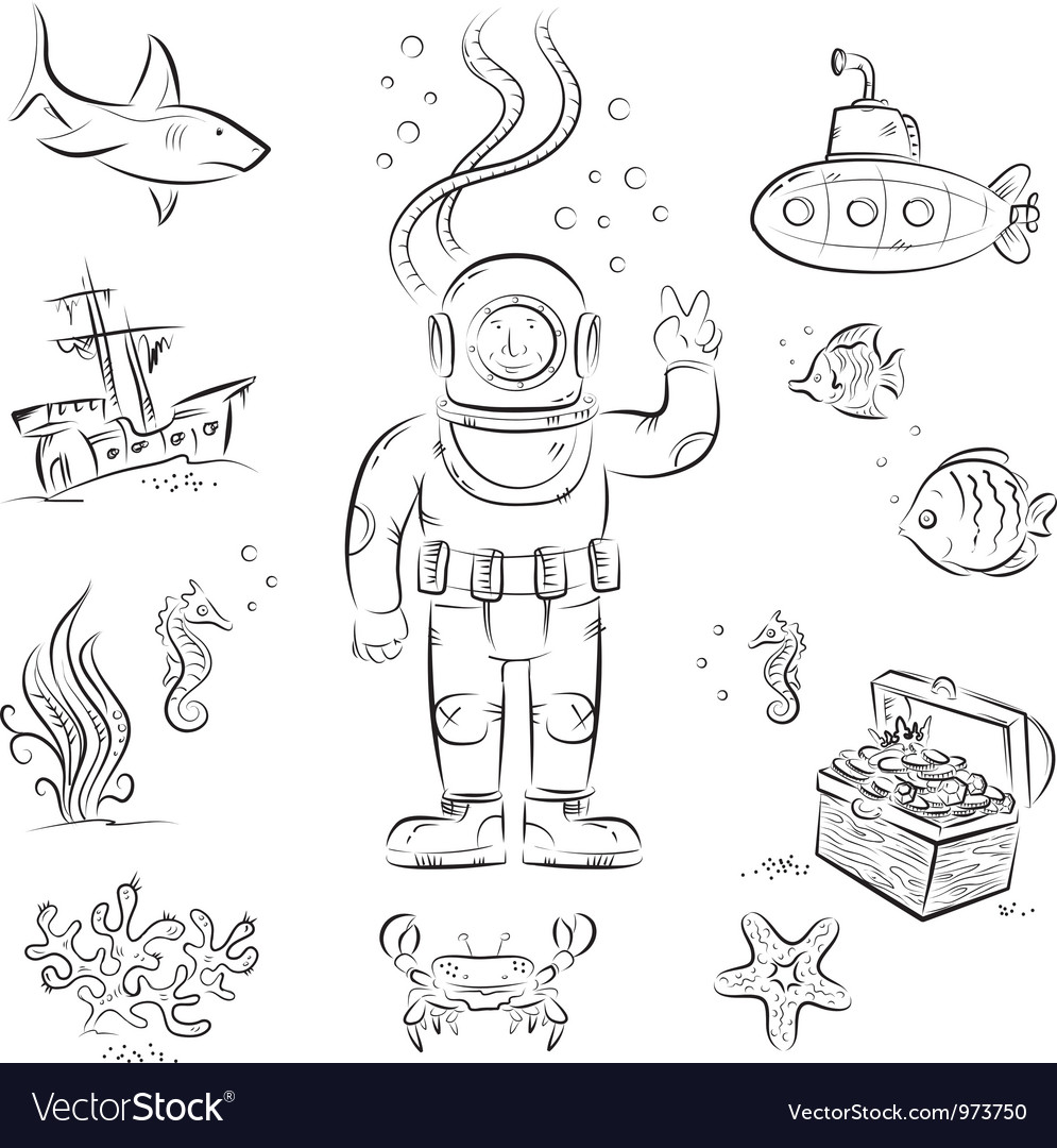Deep diving vector   Price: 1 Credit (USD $1)