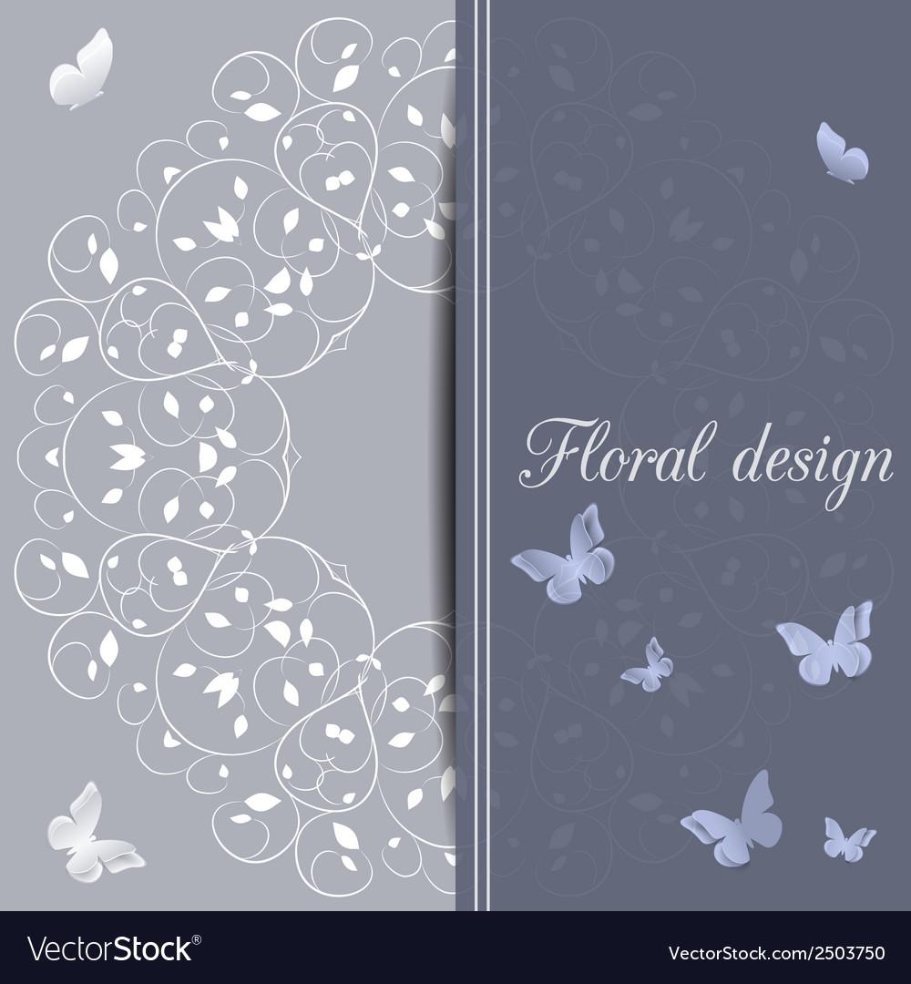 Flower design card vector   Price: 1 Credit (USD $1)