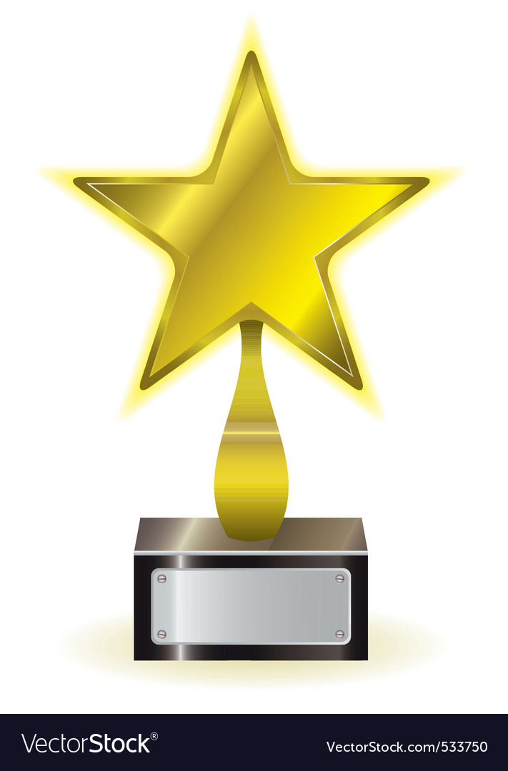 Golden star award vector | Price: 1 Credit (USD $1)