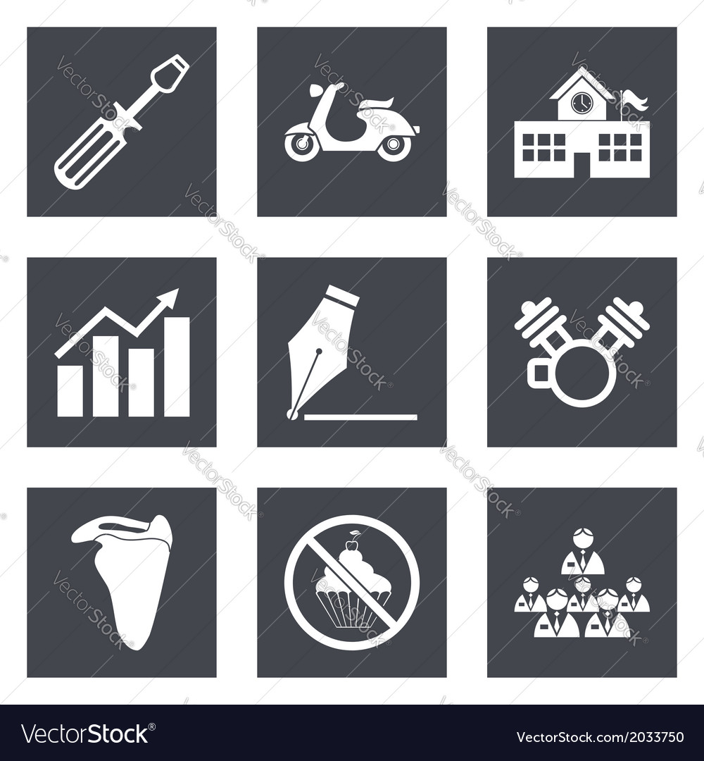 Icons for web design set 12 vector | Price: 1 Credit (USD $1)