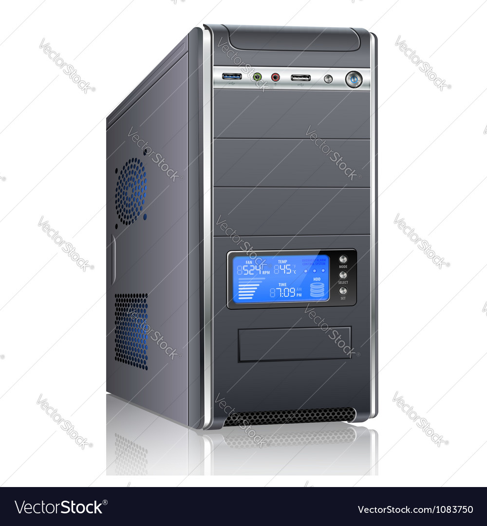 Modern computer case vector | Price: 1 Credit (USD $1)