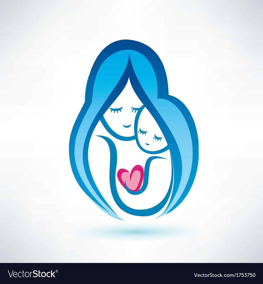 Mother and child symbol love concept vector | Price: 1 Credit (USD $1)