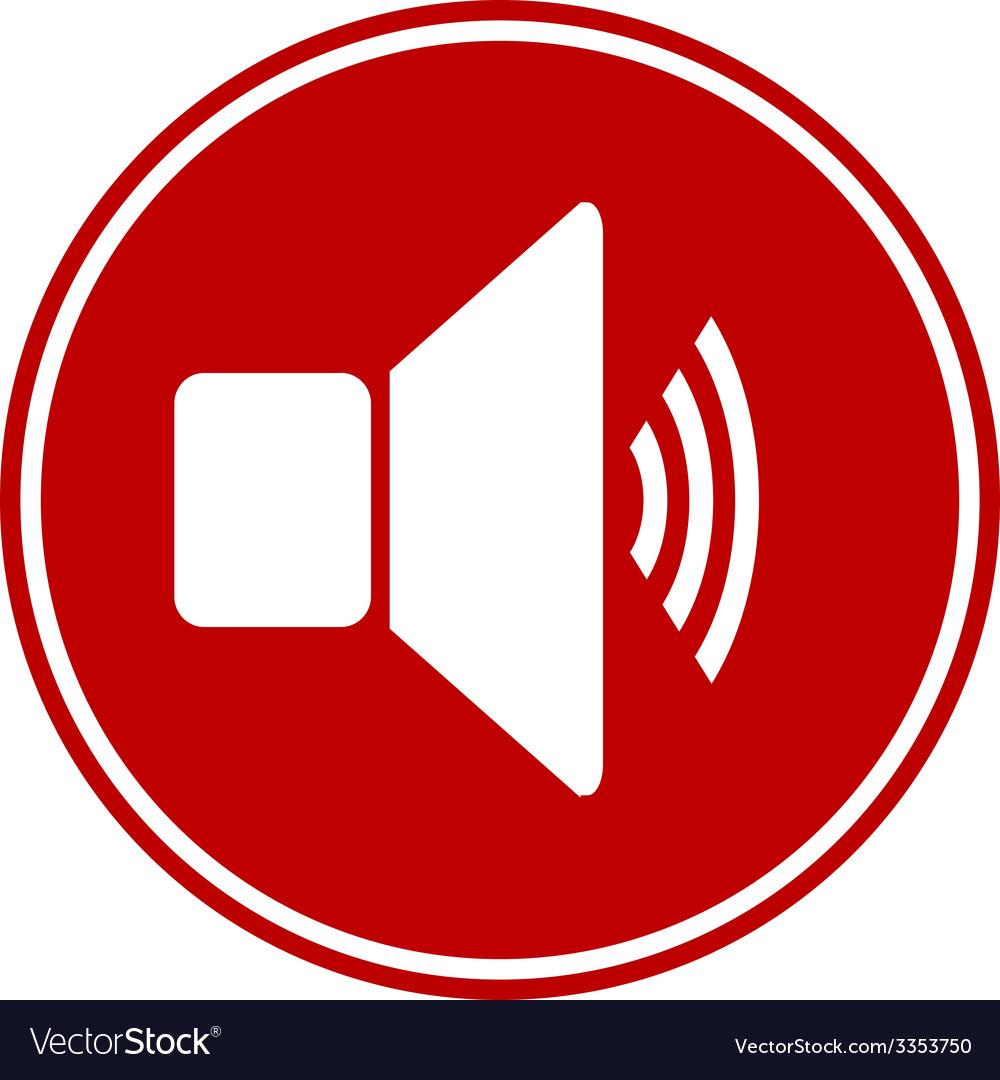 Speaker volume button vector | Price: 1 Credit (USD $1)