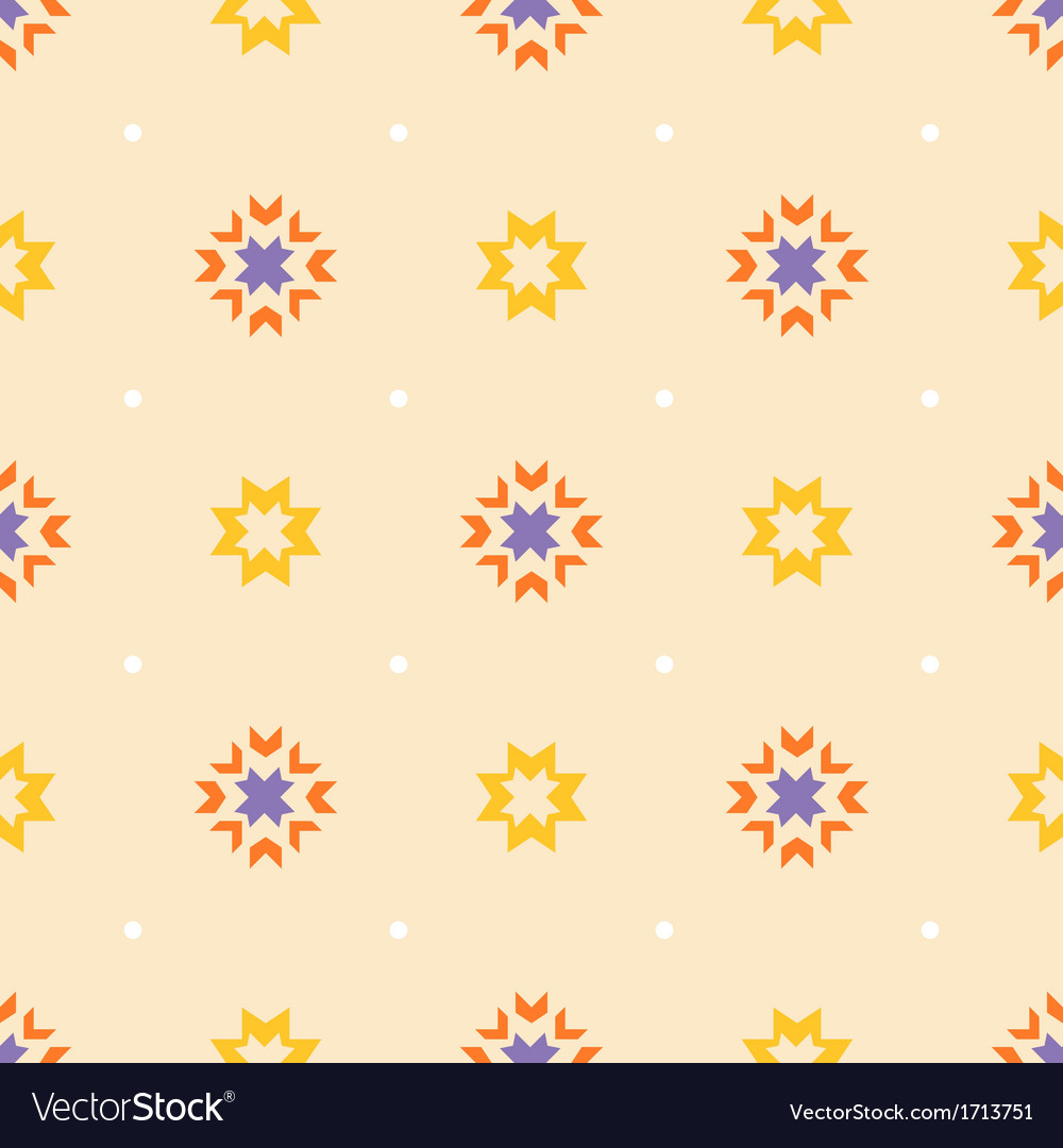 Abstract geometric seamless ornament pattern vector | Price: 1 Credit (USD $1)