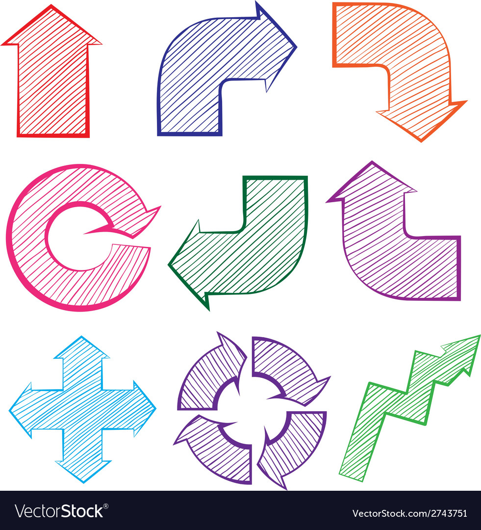 Arrows with different directions vector | Price: 1 Credit (USD $1)