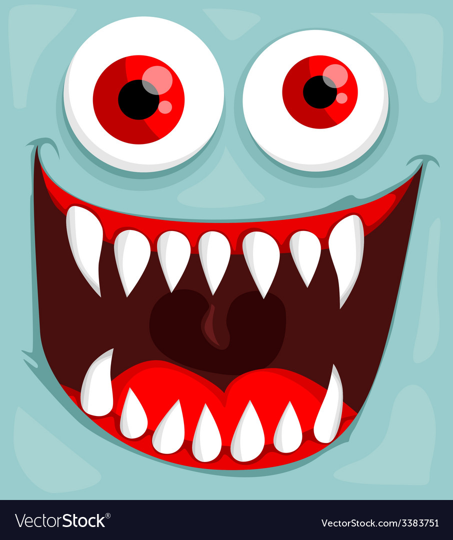 Cute monster face vector | Price: 1 Credit (USD $1)