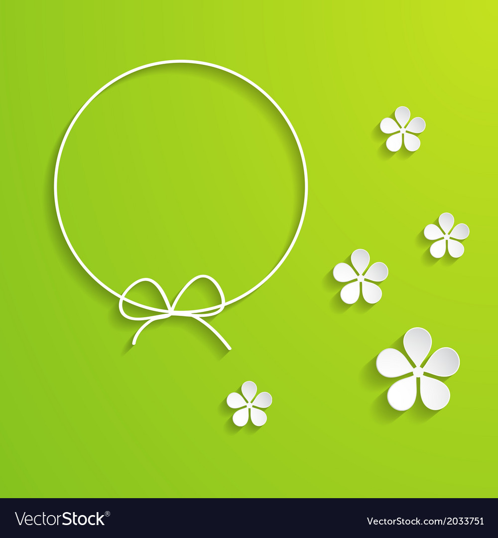 Green spring background with a frame vector | Price: 1 Credit (USD $1)