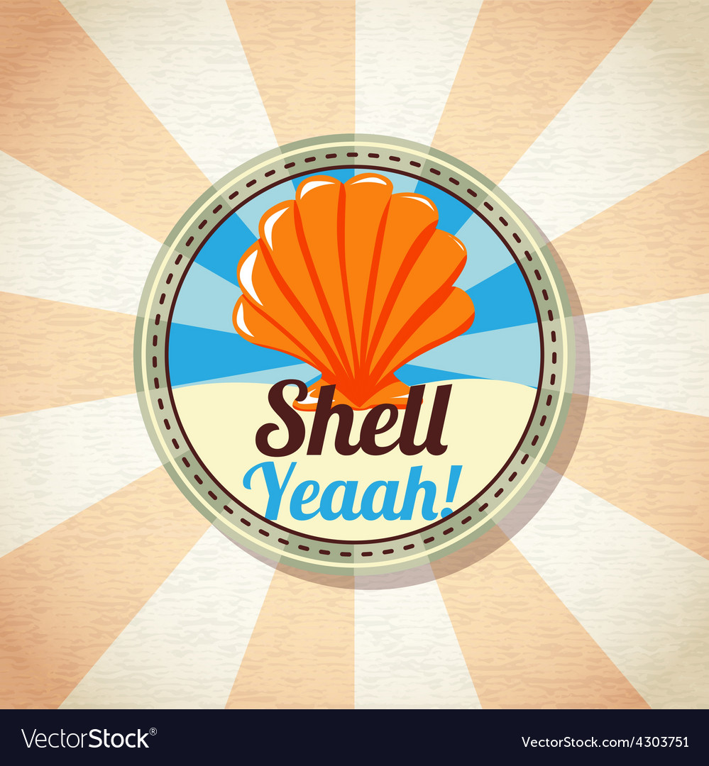 Sea shell on the shore vector | Price: 3 Credit (USD $3)