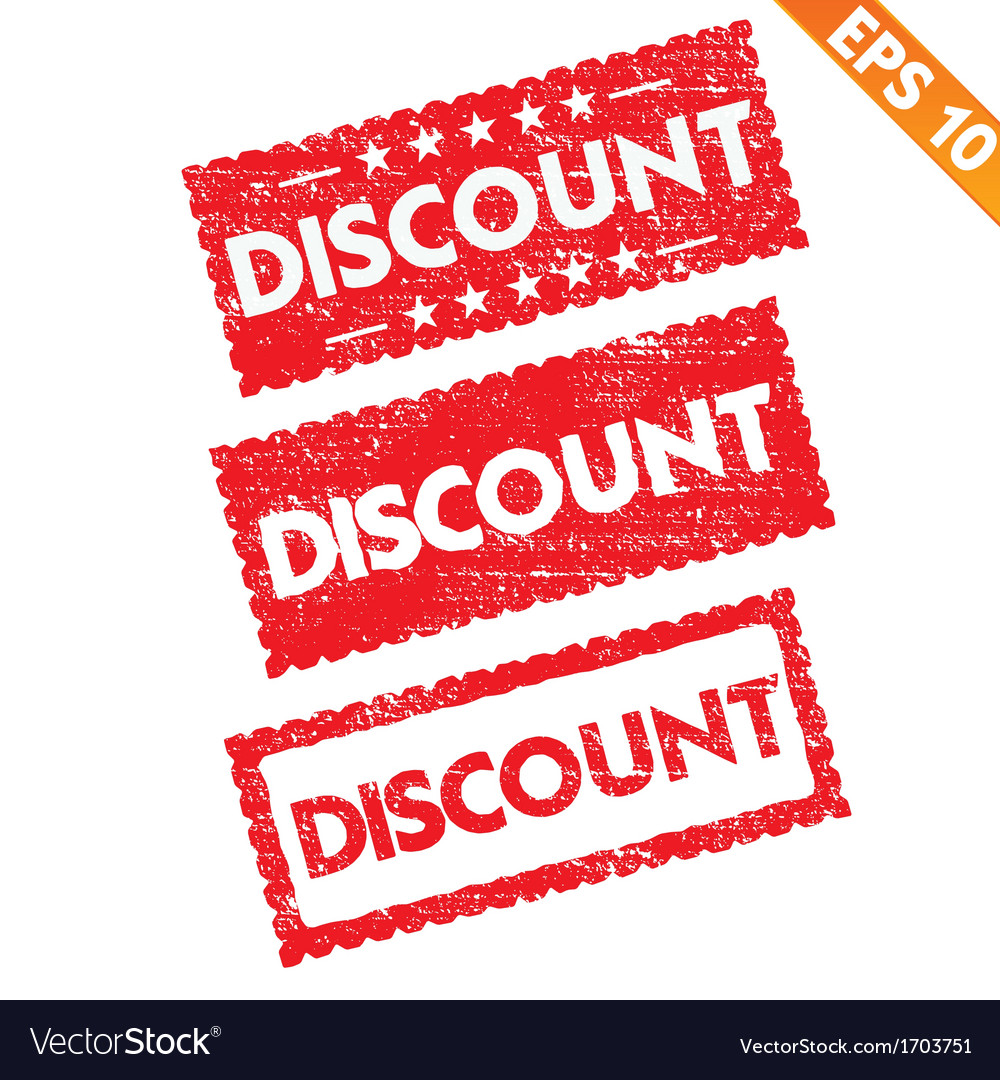 Stamp sticker discount tag collection - - e vector | Price: 1 Credit (USD $1)