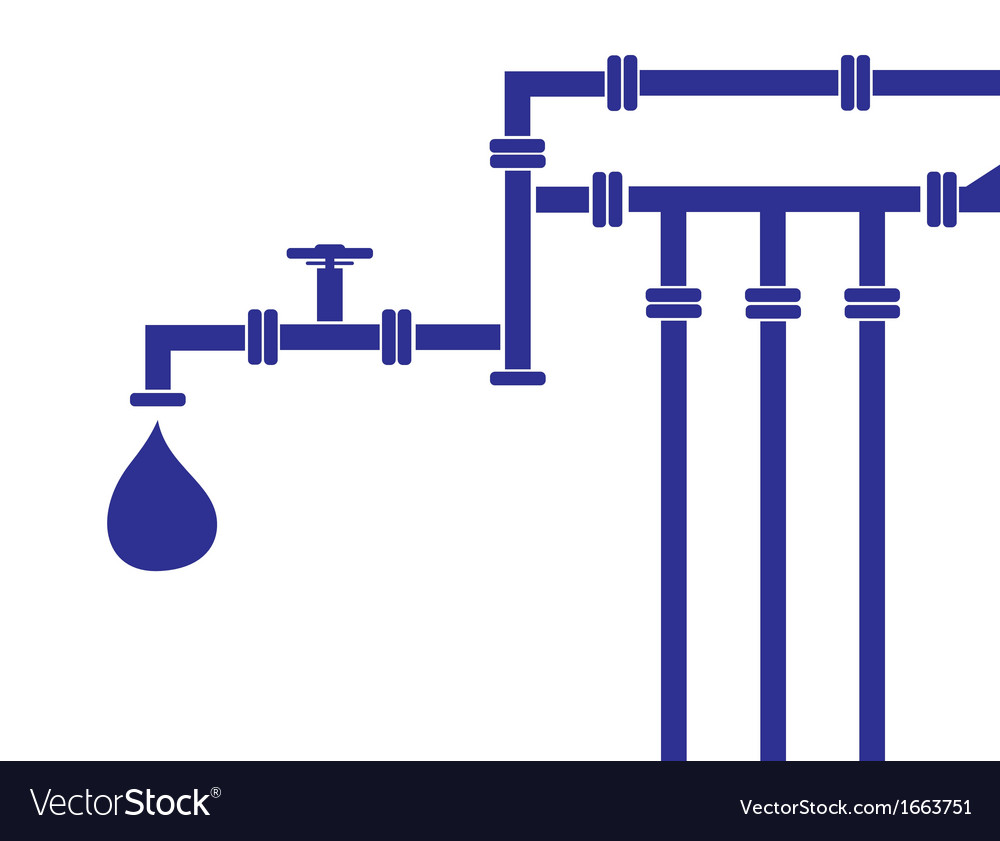 Water pipeline vector | Price: 1 Credit (USD $1)