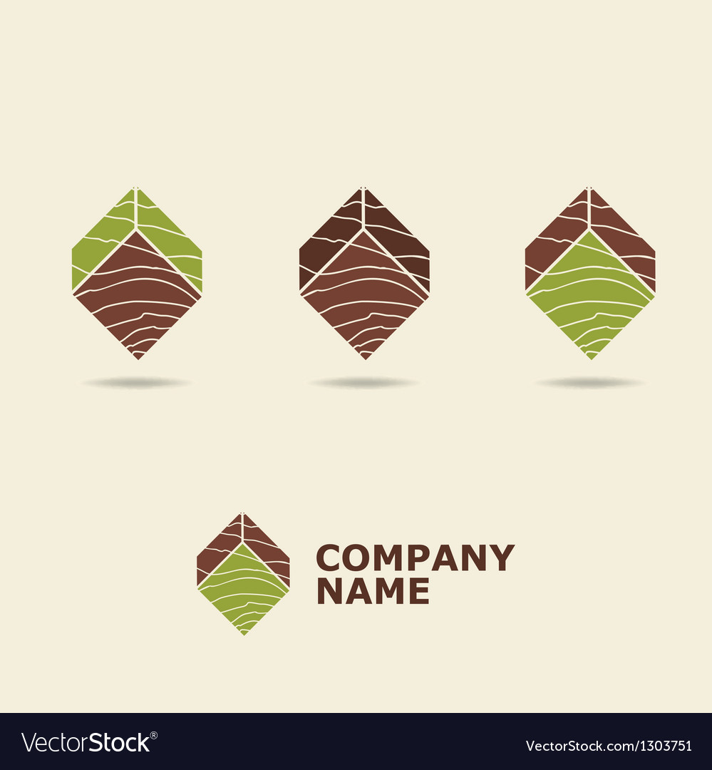 Wood style logotype vector | Price: 1 Credit (USD $1)