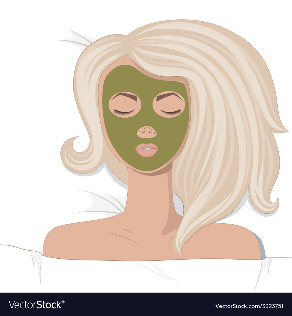 Young women enjoys the spa treatments vector | Price: 1 Credit (USD $1)