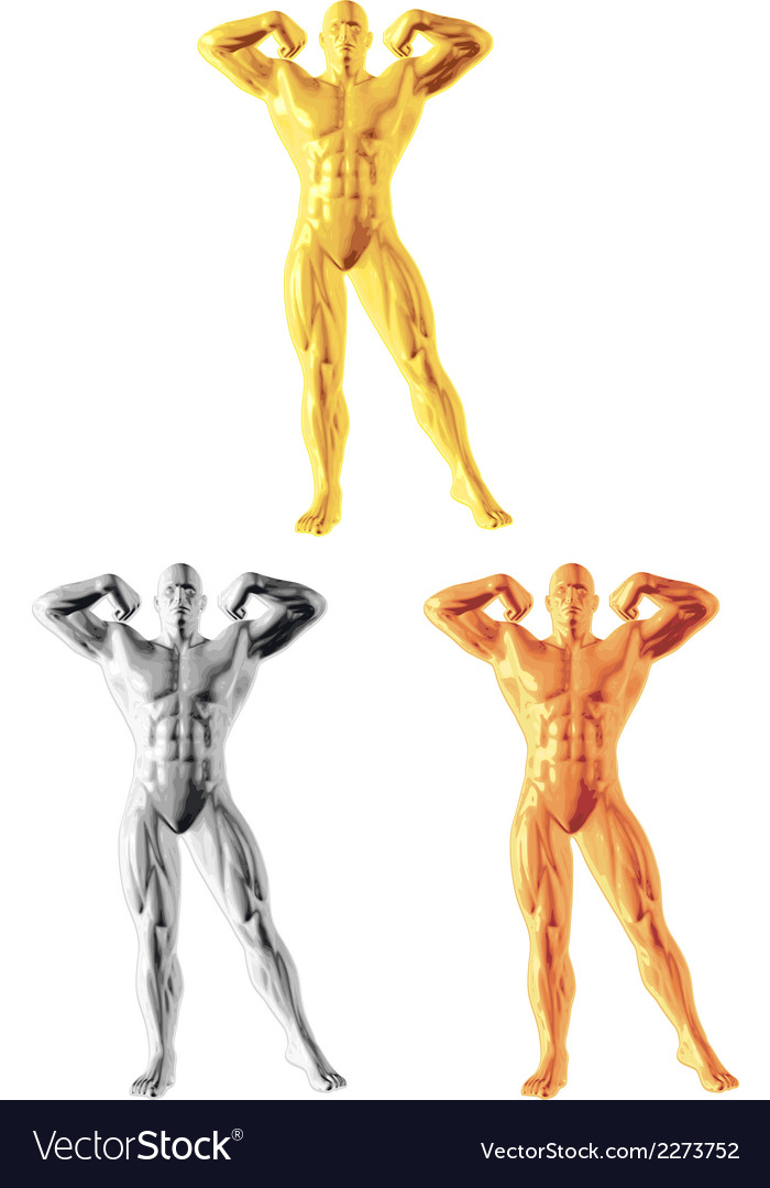 Abstract bodybuilder figure vector | Price: 1 Credit (USD $1)