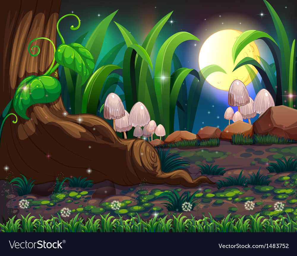 An enchanted forest vector | Price: 1 Credit (USD $1)