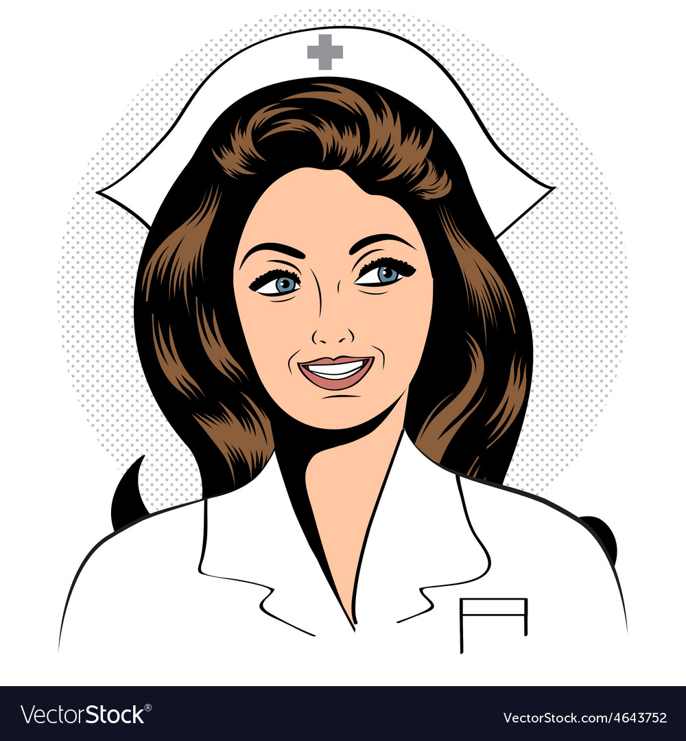 Beautiful friendly and confident nurse vector | Price: 1 Credit (USD $1)