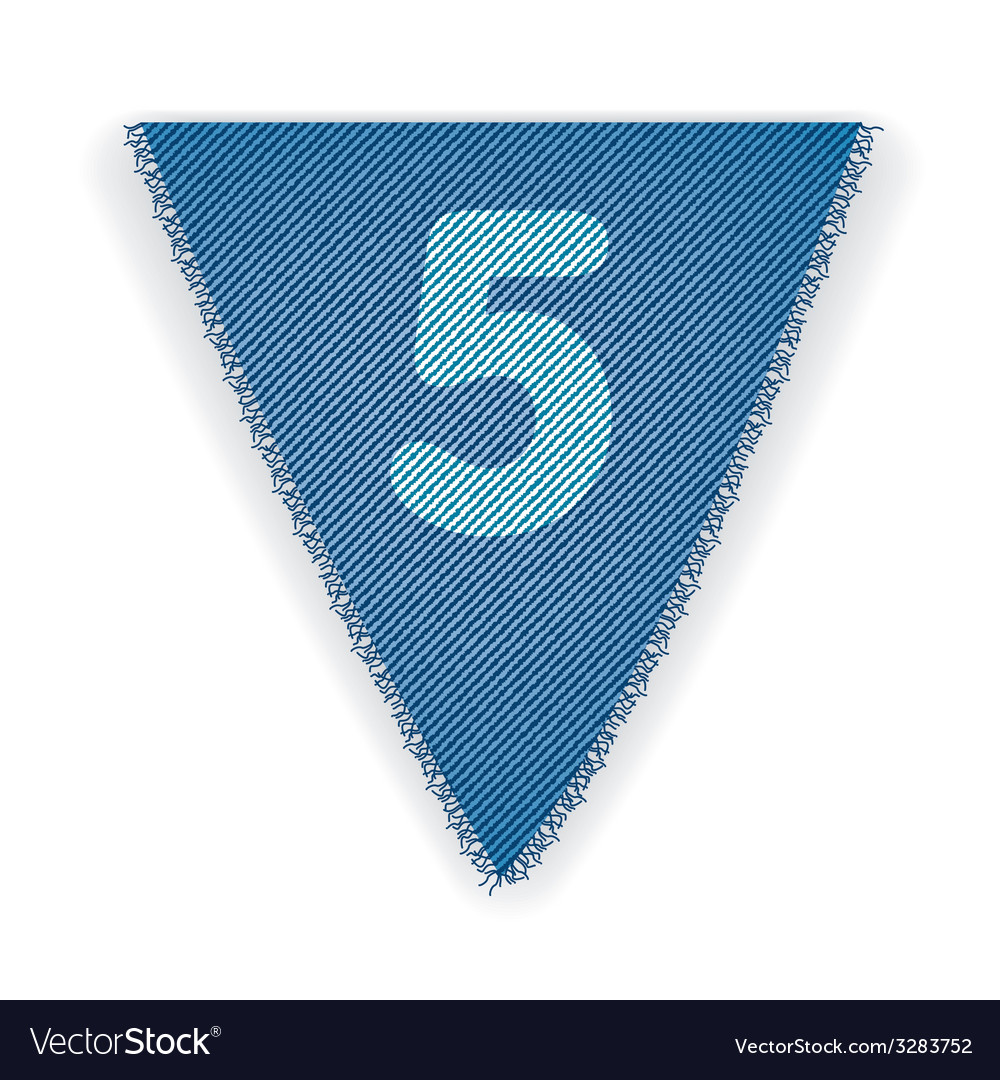 Bunting flag number 5 vector | Price: 1 Credit (USD $1)