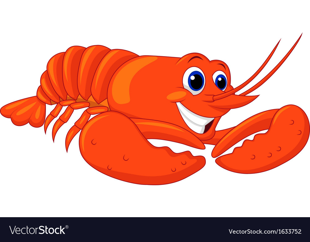Cute lobster cartoon vector | Price: 1 Credit (USD $1)