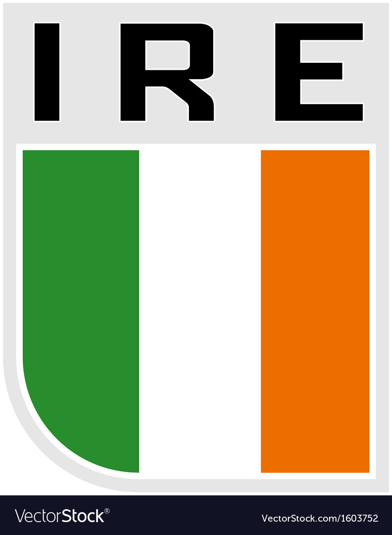 Flag of ireland icon vector | Price: 1 Credit (USD $1)