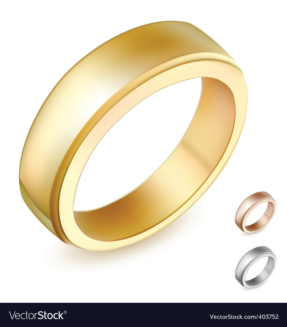 Gold ring illustration vector | Price: 1 Credit (USD $1)