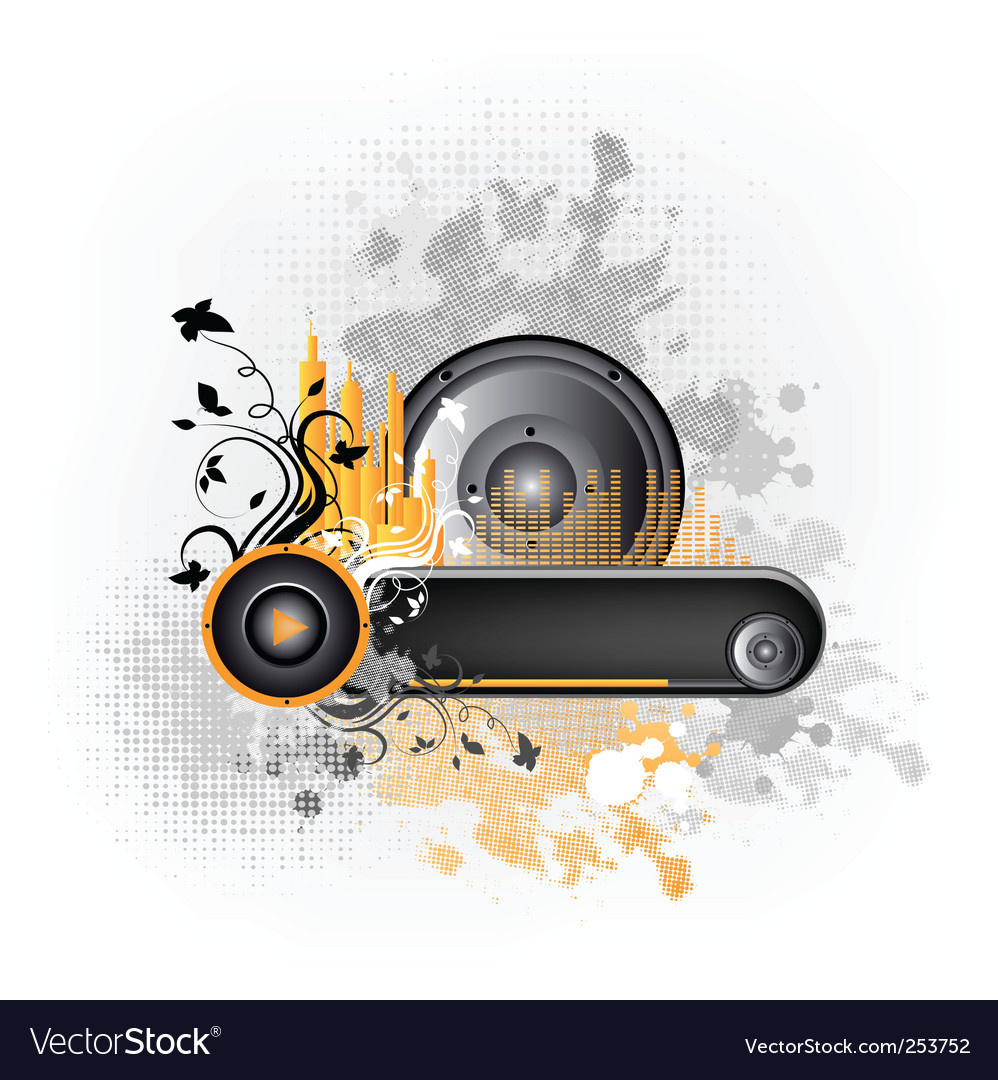 Music grunge frame vector | Price: 1 Credit (USD $1)