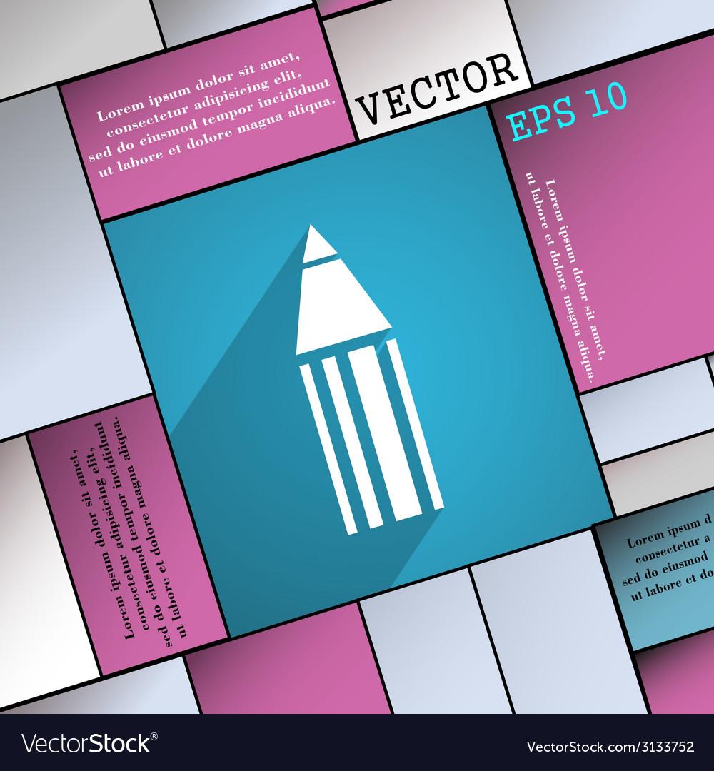 Pencil icon symbol flat modern web design with vector   Price: 1 Credit (USD $1)