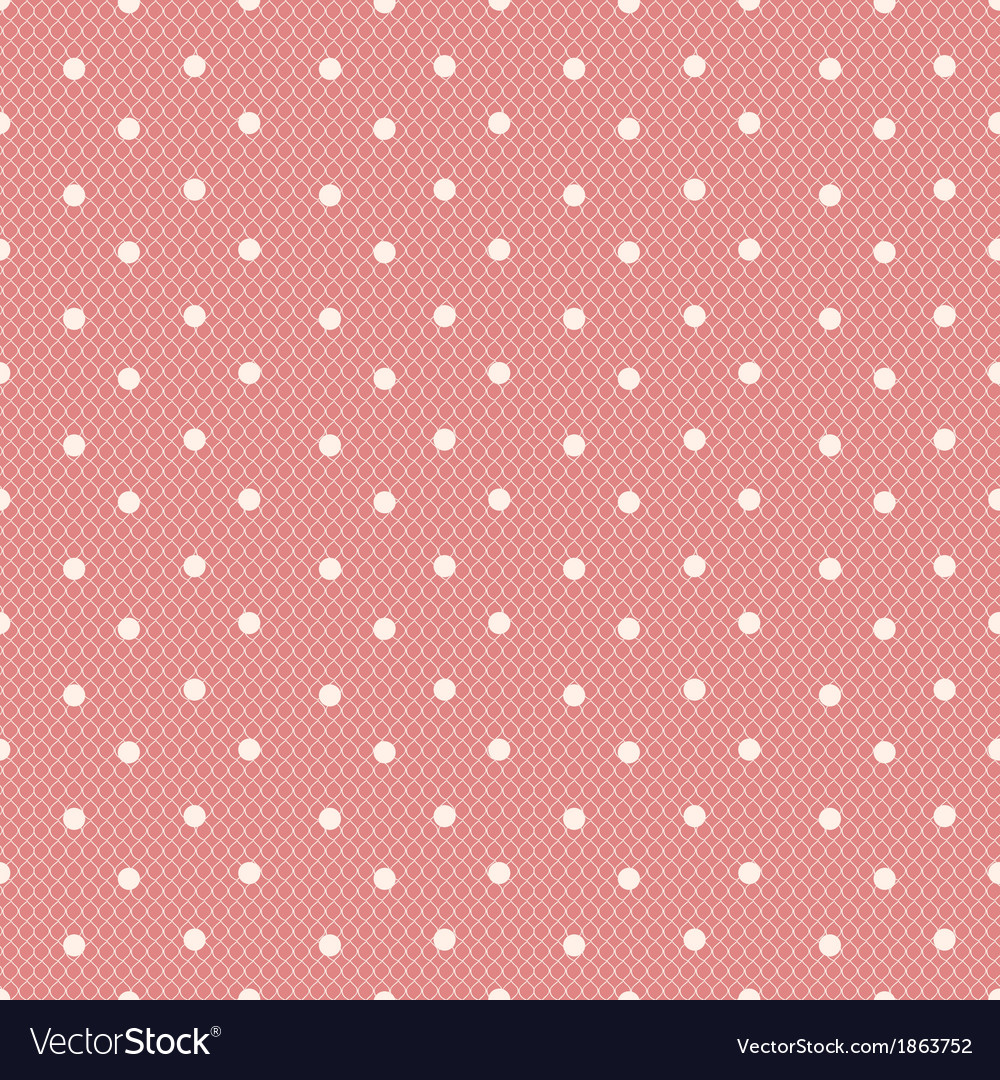 Pink dotted lacy seamless pattern vector | Price: 1 Credit (USD $1)
