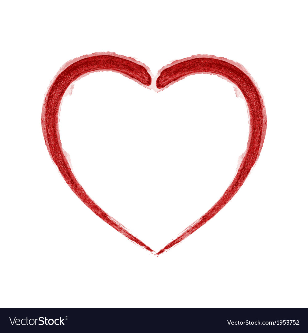 Red brushed heart vector | Price: 1 Credit (USD $1)