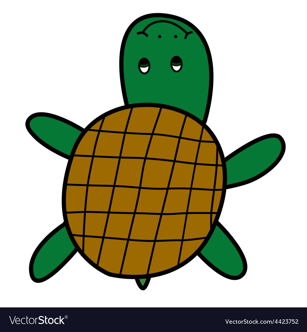 Turtle doodle style vector | Price: 1 Credit (USD $1)