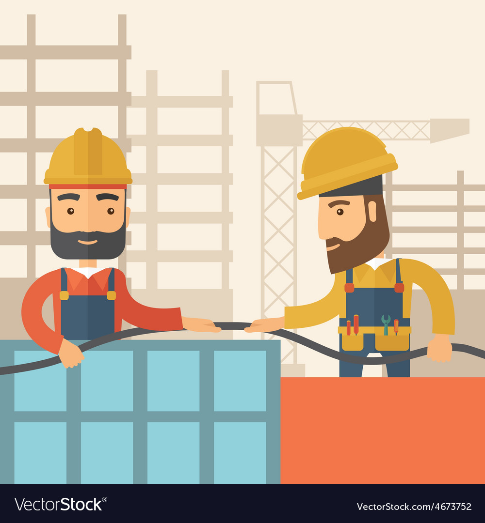 Two builders vector | Price: 1 Credit (USD $1)