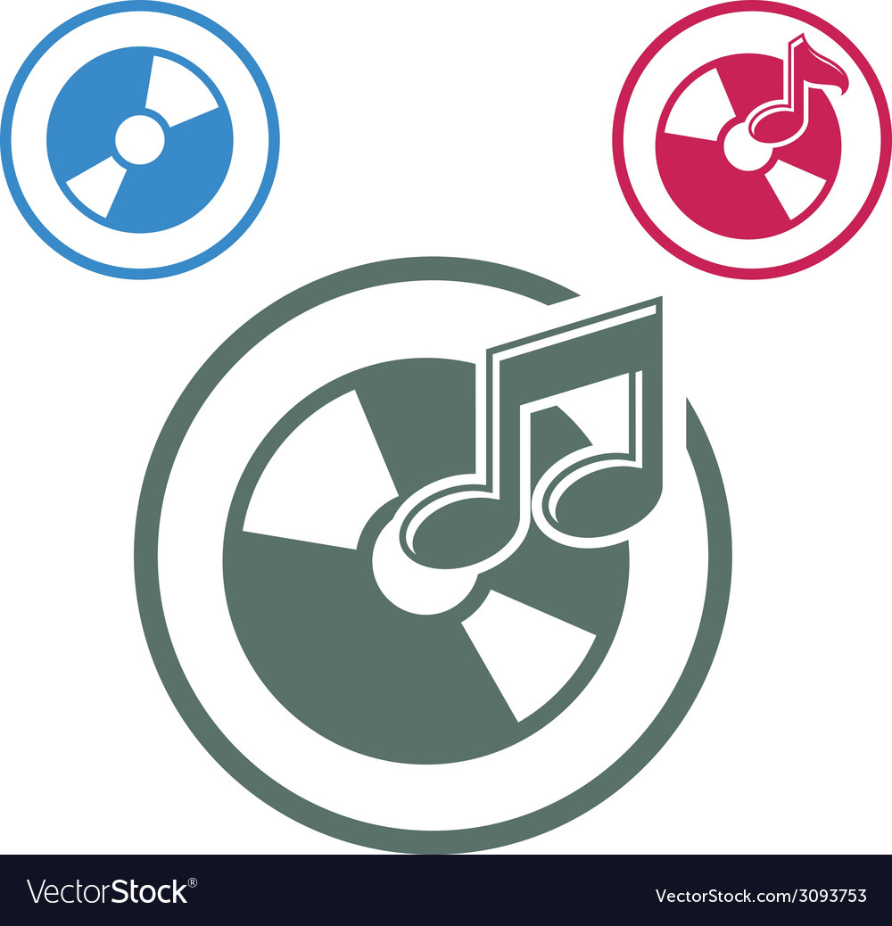 Audio cd icon single color music theme symbol for vector | Price: 1 Credit (USD $1)