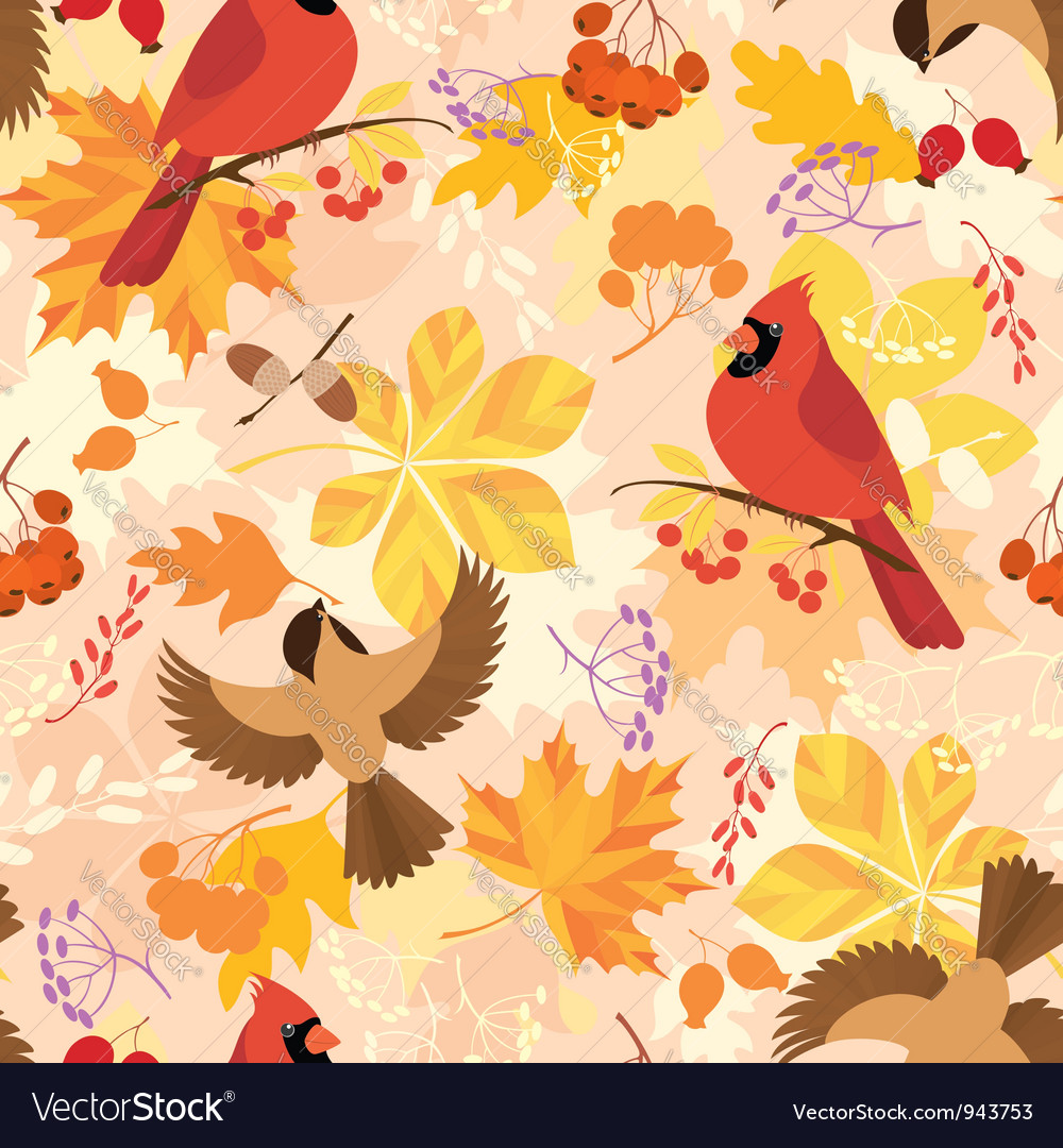 Autumn pattern vector | Price: 3 Credit (USD $3)