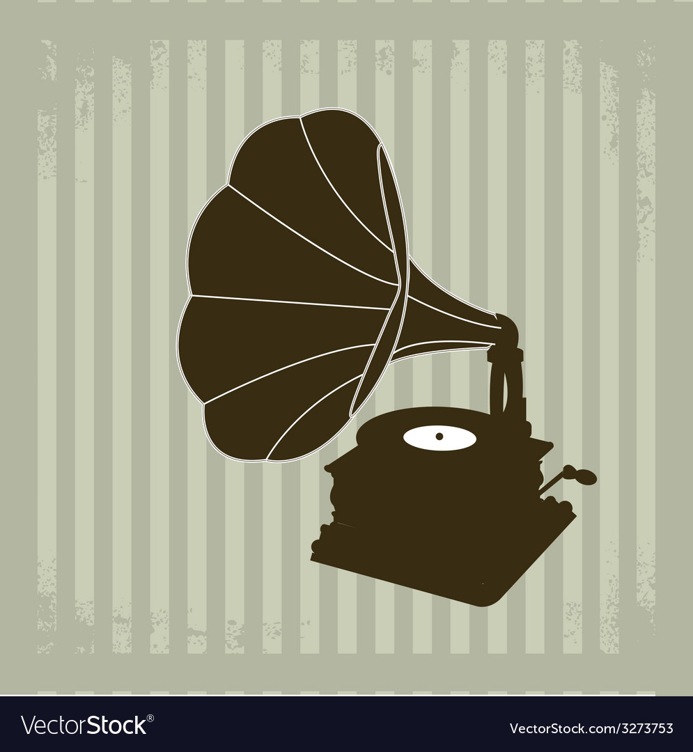 Gramophone 2 vector | Price: 1 Credit (USD $1)
