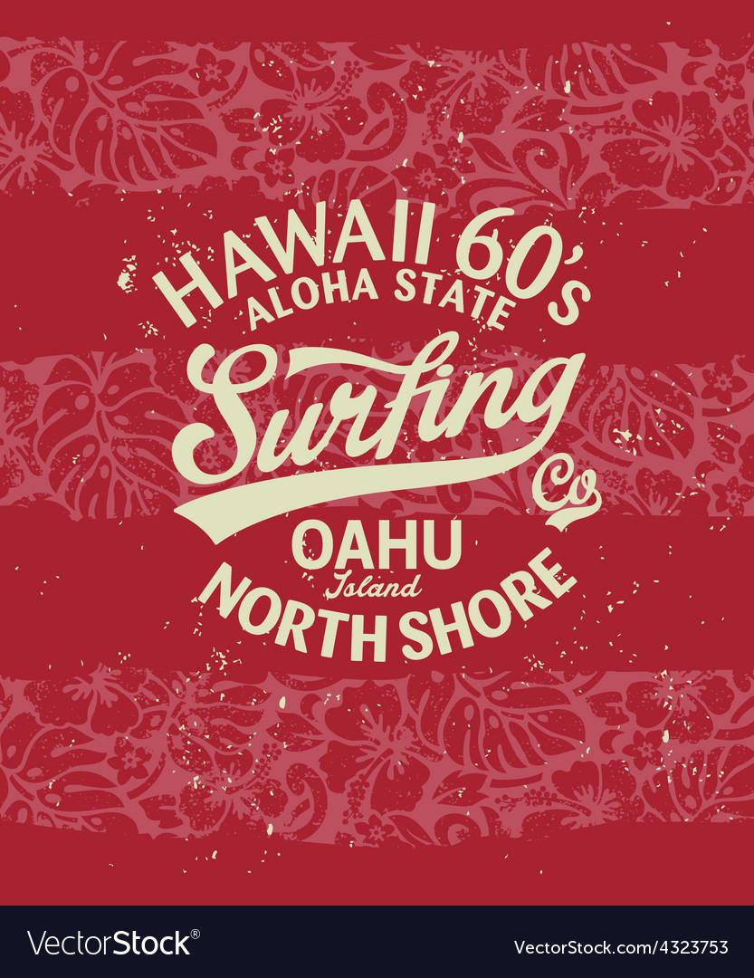 Hawaii surfing vector | Price: 1 Credit (USD $1)
