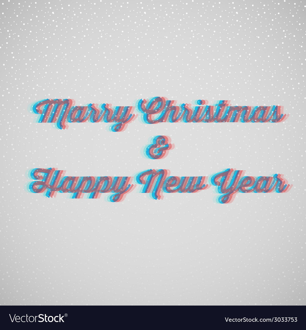 Marry christmas and happy new year vector | Price: 1 Credit (USD $1)