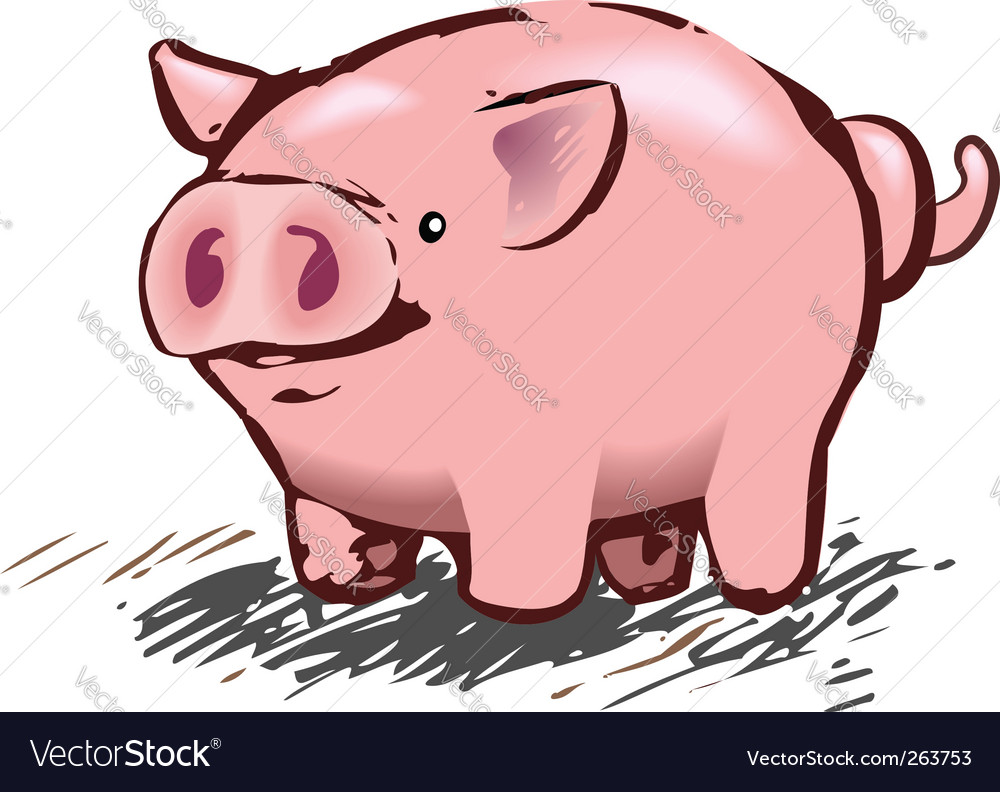 Pig illustration vector | Price: 1 Credit (USD $1)