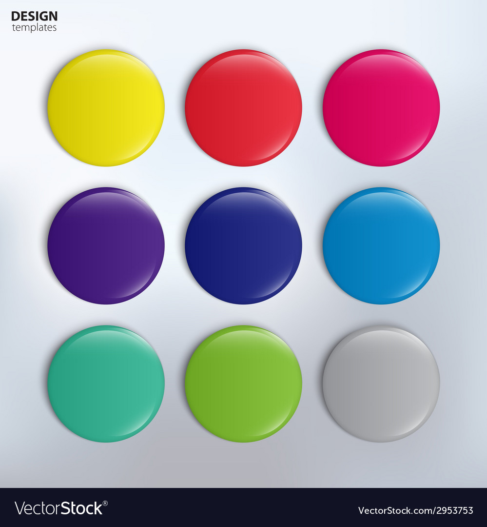 Set of colorful glossy badges vector   Price: 1 Credit (USD $1)