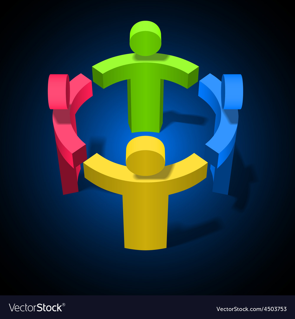 Team work friendship partnership social network vector