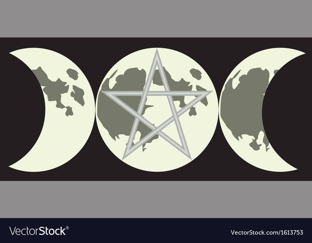 Triple goddess sign vector | Price: 1 Credit (USD $1)