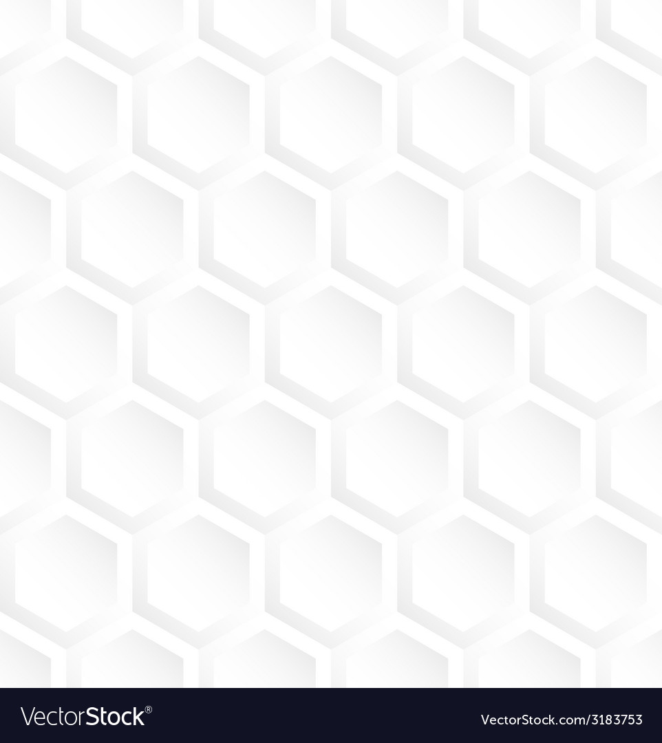 White hexagon abstract seamless pattern background vector | Price: 1 Credit (USD $1)