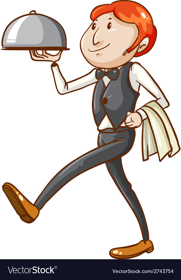 A simple sketch of a waiter vector | Price: 1 Credit (USD $1)