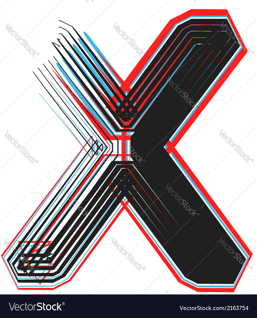 Abstract font letter x vector | Price: 1 Credit (USD $1)