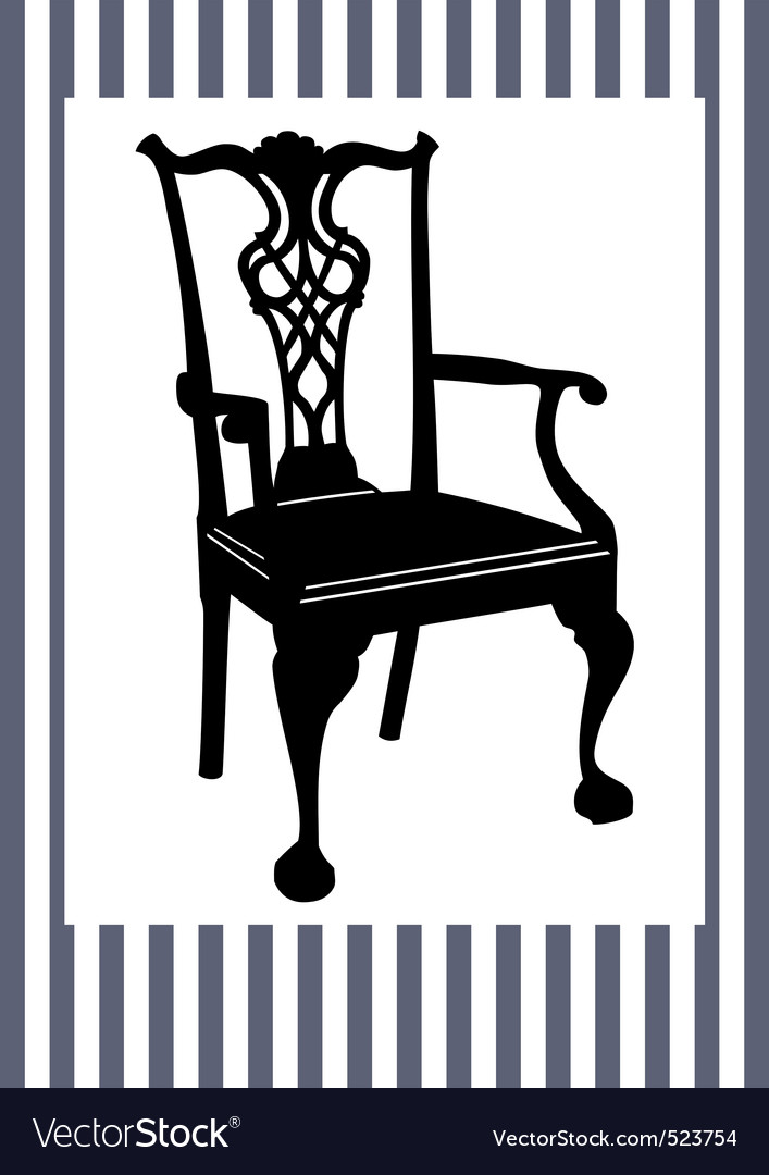 Antique chair vector | Price: 1 Credit (USD $1)