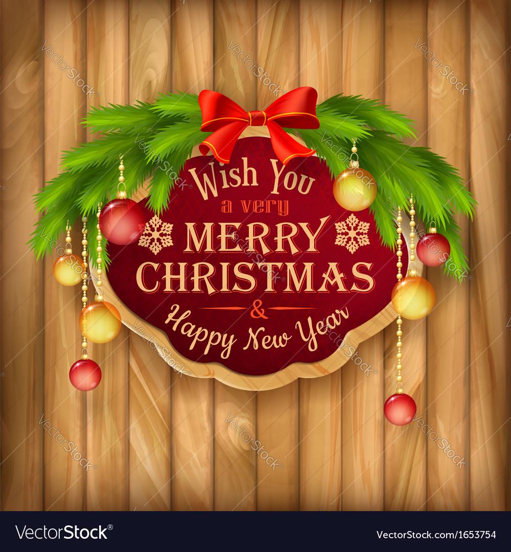 Christmas garland frame balls background vector | Price: 3 Credit (USD $3)