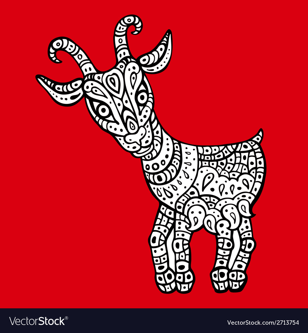 Goat 2015 symbol of the new year vector | Price: 1 Credit (USD $1)