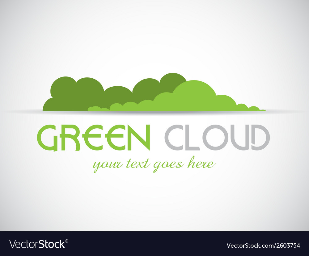 Green cloud logo vector | Price: 1 Credit (USD $1)