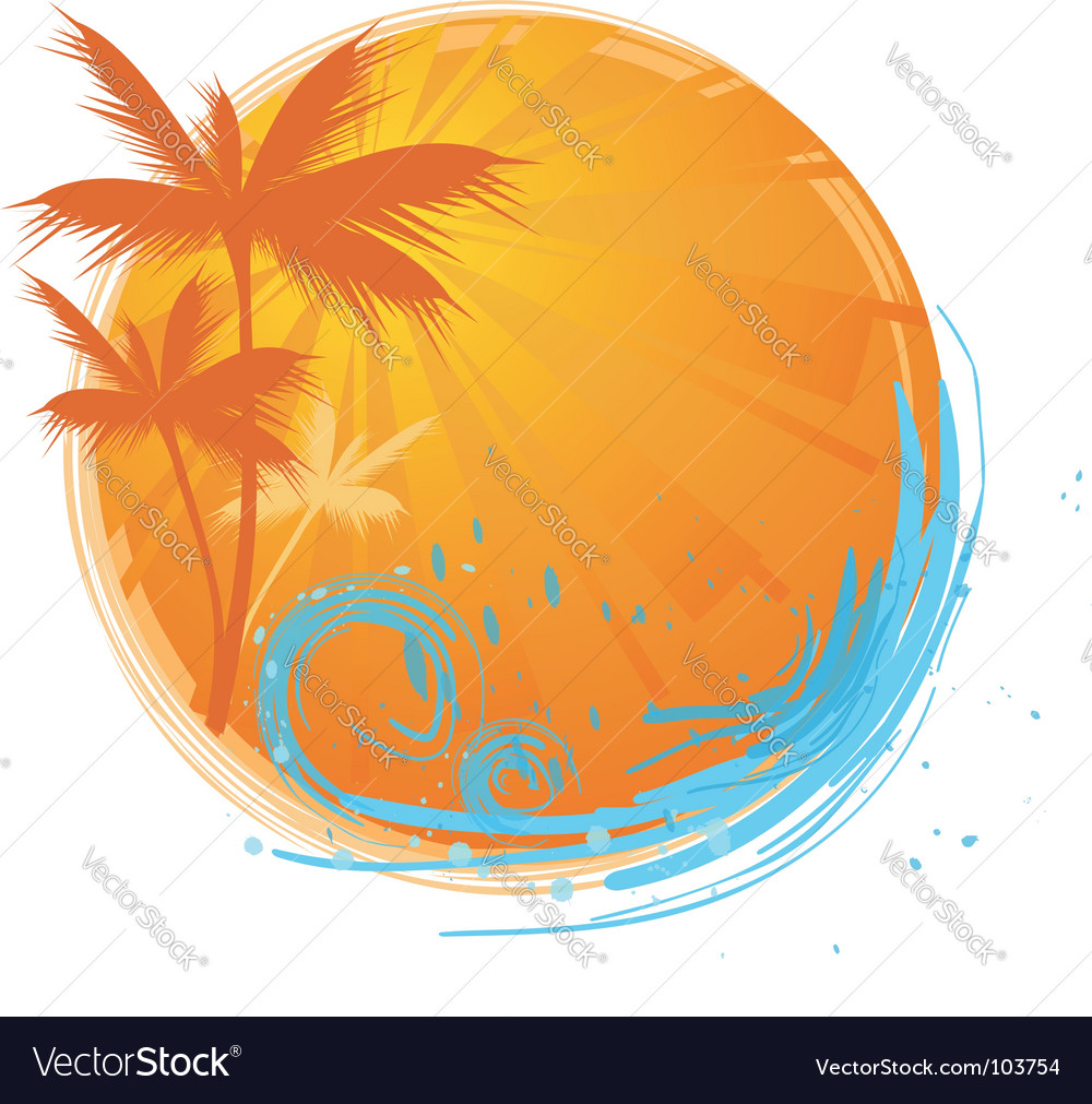 Palms banner vector | Price: 1 Credit (USD $1)