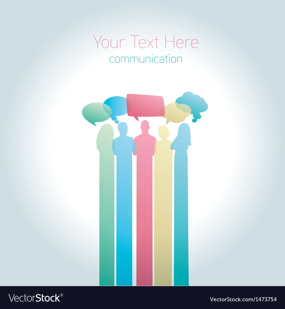 People communicating social media vector | Price: 1 Credit (USD $1)