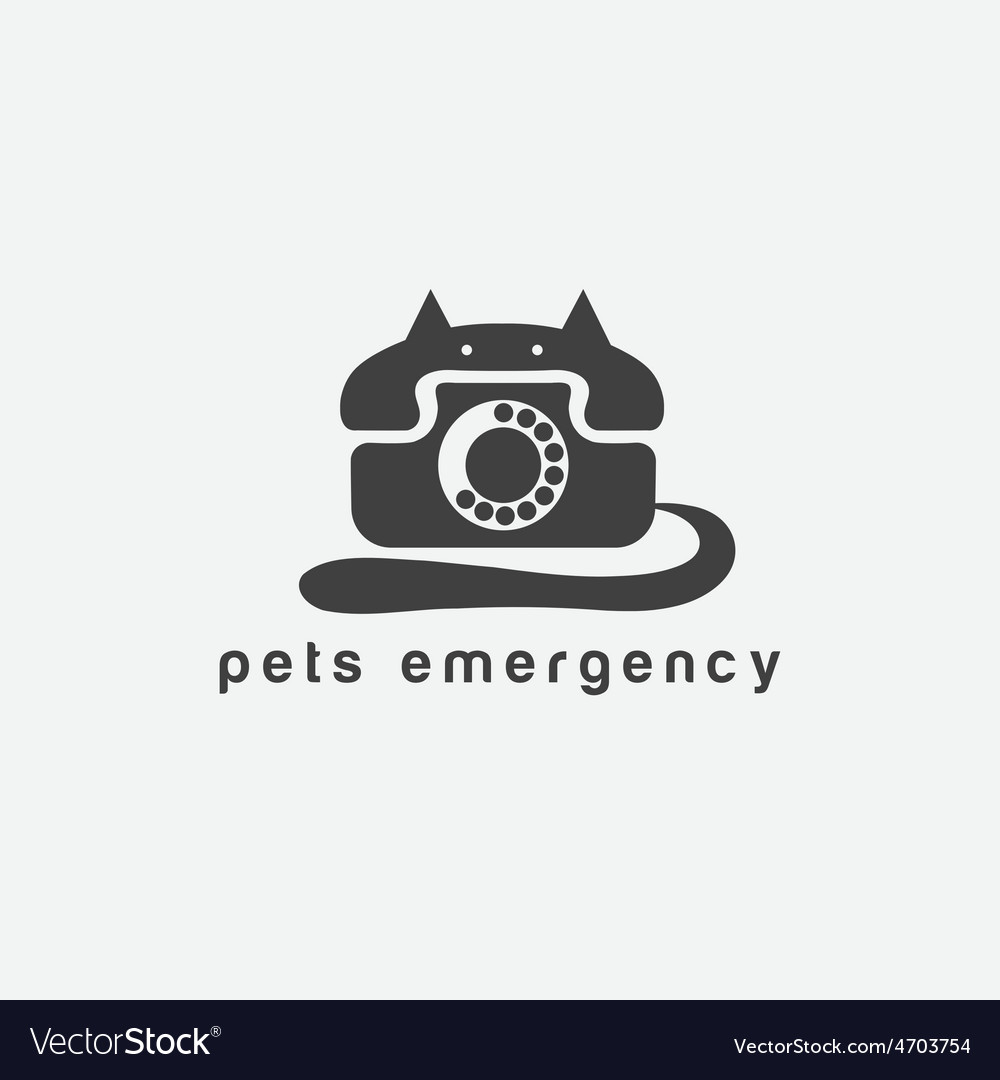Phone in a form of cat concept vector | Price: 1 Credit (USD $1)