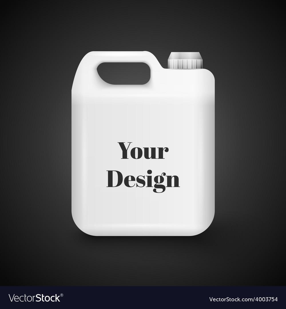 Plastic jerrycan oil cleanser detergent vector | Price: 1 Credit (USD $1)